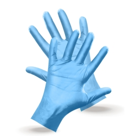guanti monouso tpe azzurri alimenti