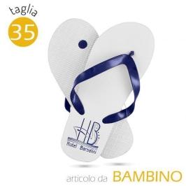 CIABATTA THERMAL BIMBI   bianca personalizzabile