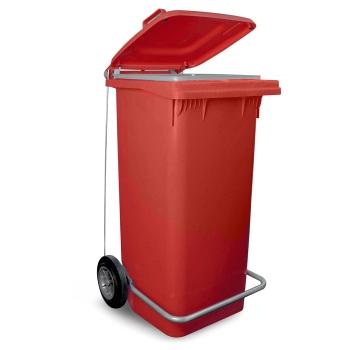 PATTUMIERA 120 LT   plastica rossa