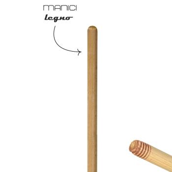MANICO SPAZZOLONE   in legno 140 cm