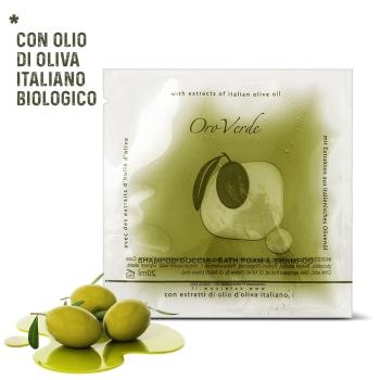 shampoo doccia monodose olio d'oliva
