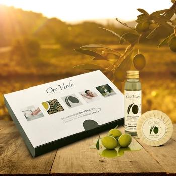 mini set cosmetico olio d'oliva