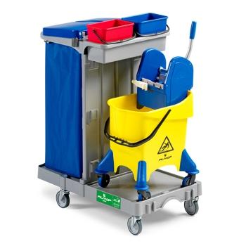carrello-pulizie-pavimenti-secchio-strizzatore