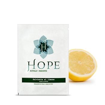 salvietta limone bustina personalizzata
