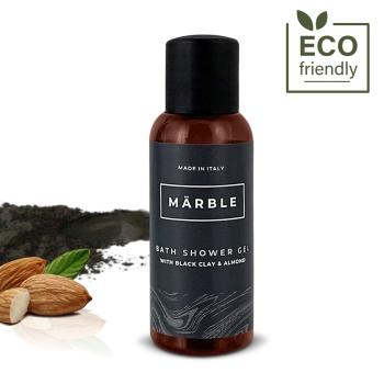 produzione cosmetico hotel argilla nera set cortesia
