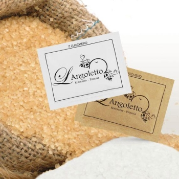 zucchero bianco canna bustina personalizzata